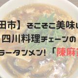 【秋田市】そこそこ美味しい。四川料理チェーンのスーラータンメン!「陳麻家」