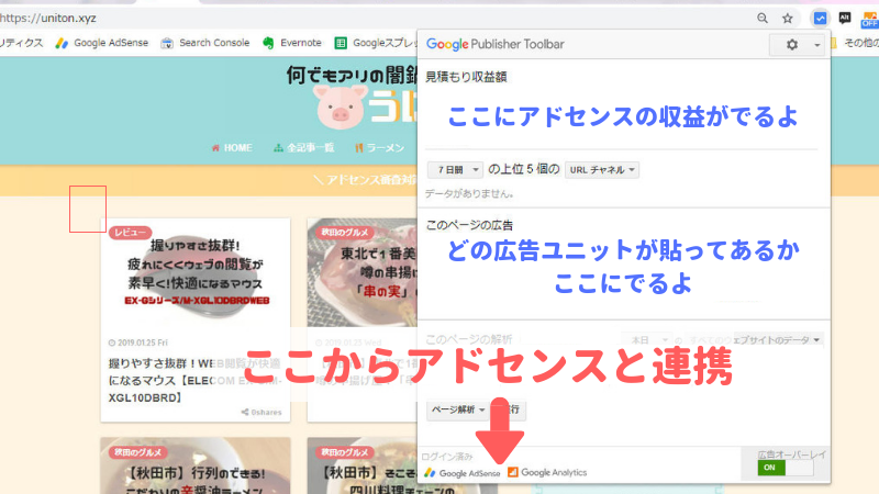 Google Publisher Toolbarの使い方